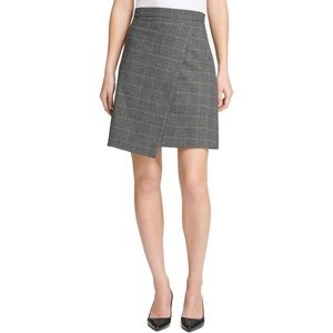 Dkny Menswear Grid Asymmetric Crossover Skirt